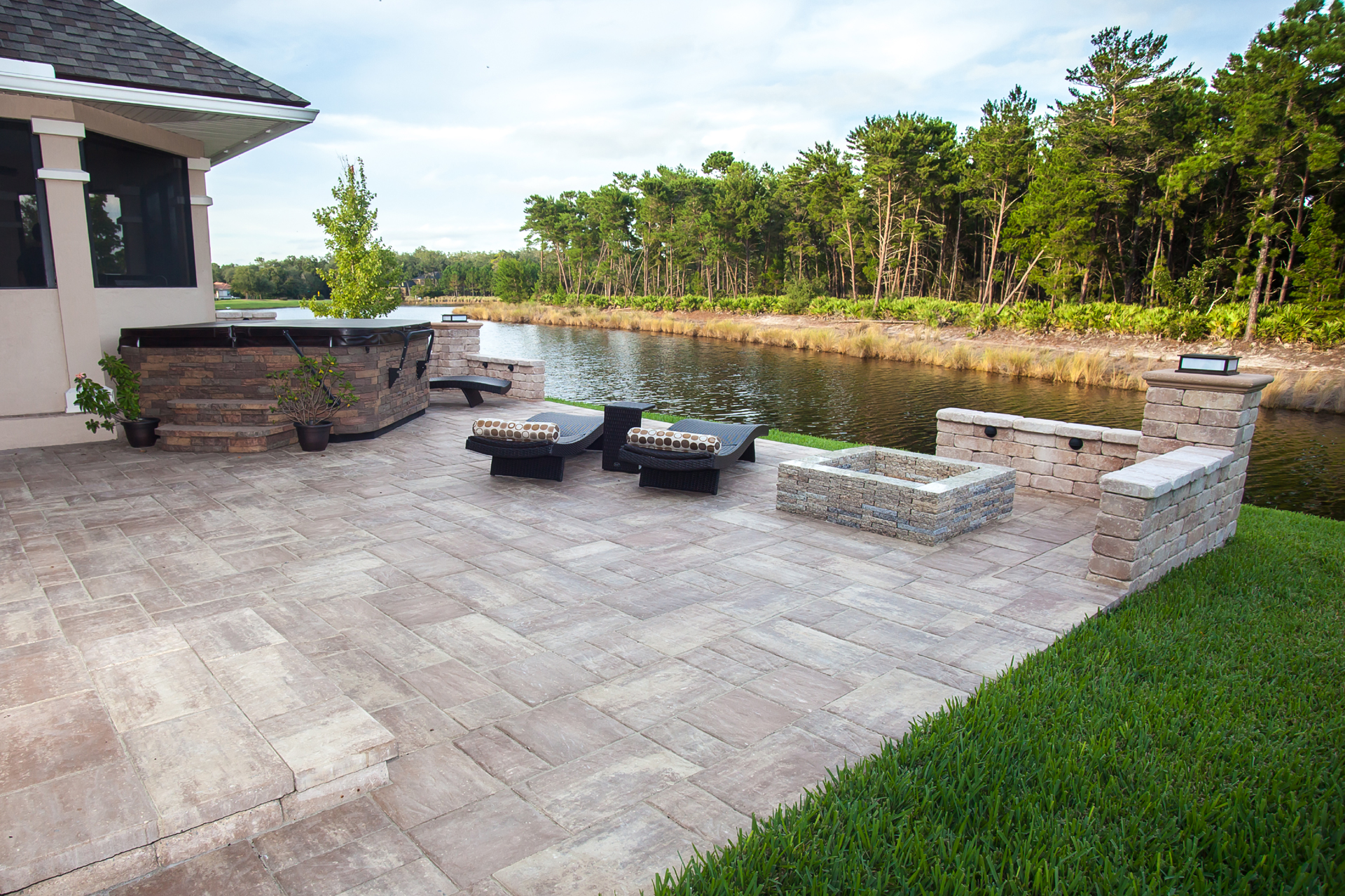 Paver Patio Professionally Installed by Florida Coastal Contractors